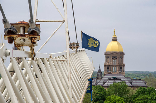 Crane with ND Flag