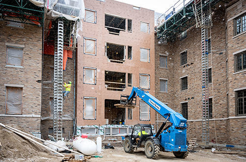 Baumer Hall Construction 3